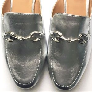 Silver Backless Mule